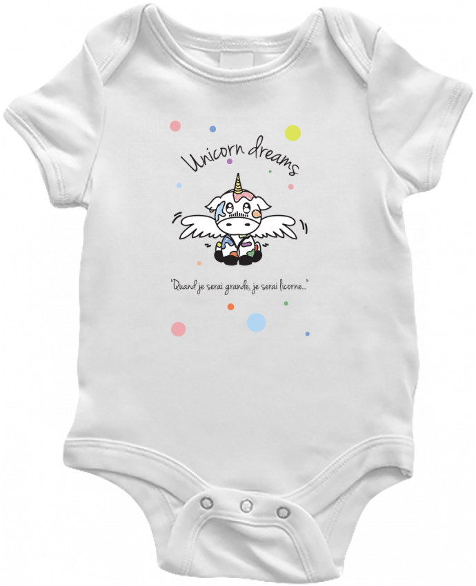 Body Bébé Unicorn Dreams - Little cow par BlassCrea