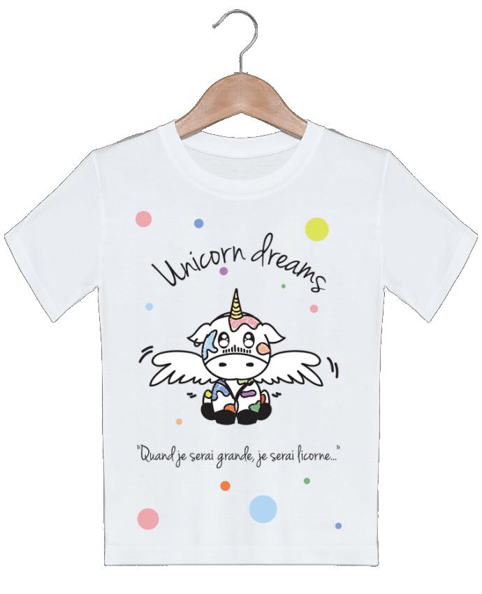 T-shirt Enfant Unicorn Dreams - Little cow BlassCrea