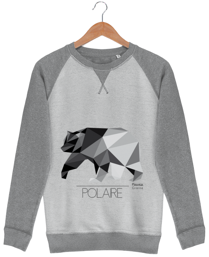 Sweat French Terry Ours polaire origami par Mauvaise Graine