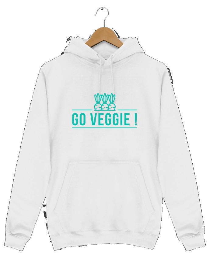 Sweat Shirt à Capuche Homme Go veggie ! par Folie douce