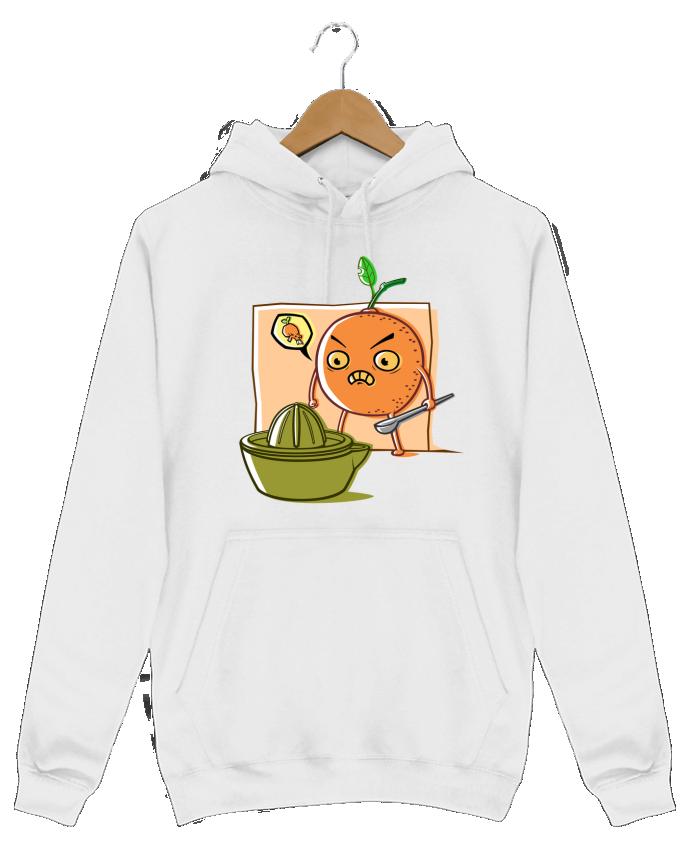 Sweat Shirt à Capuche Homme Angry Orange par SirCostas