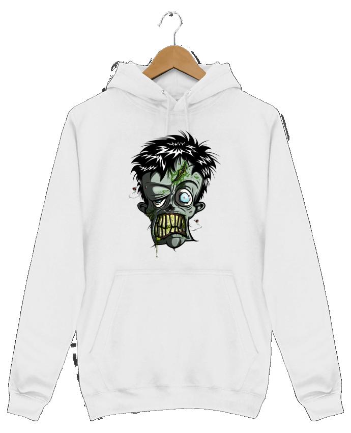 Sweat Shirt à Capuche Homme Toxic Zombie par SirCostas