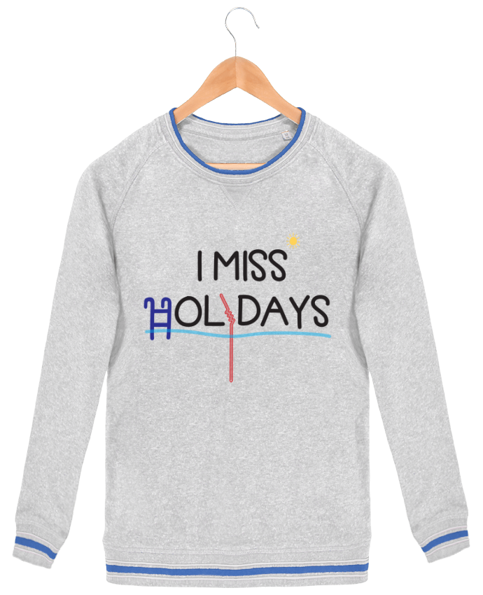 Sweat-shirt homme Stanley Strolls Tipped I miss holidays par tunetoo