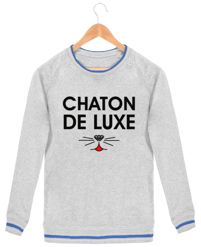 Sweat-shirt homme Stanley Strolls Tipped Chaton de luxe par tunetoo