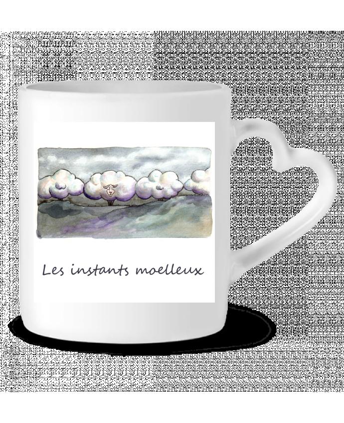 Mug coeur moutons nuages par Lia Illustration bien-être