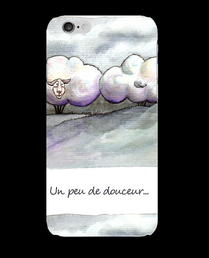 Coque iPhone 6 moutons nuages par Lia Illustration bien-être