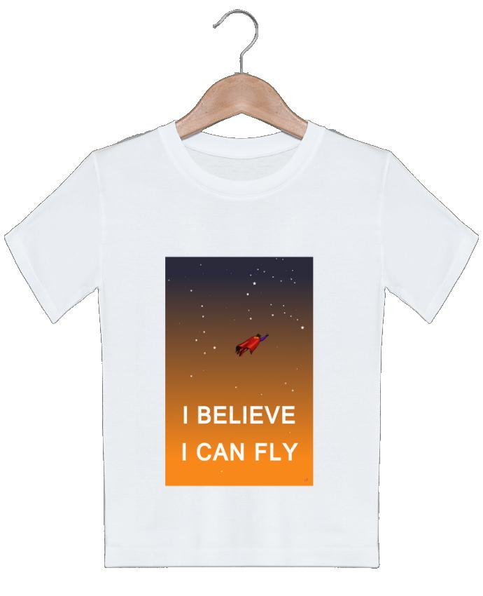 T-shirt garçon motif I believe I can fly, oui je peux! Lia Illustration bien-être