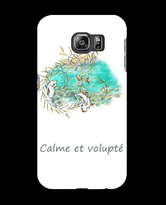 Coque Samsung Galaxy S6 Poissons qui sautent dans le saule pleureur - Lia Illustration bien-être