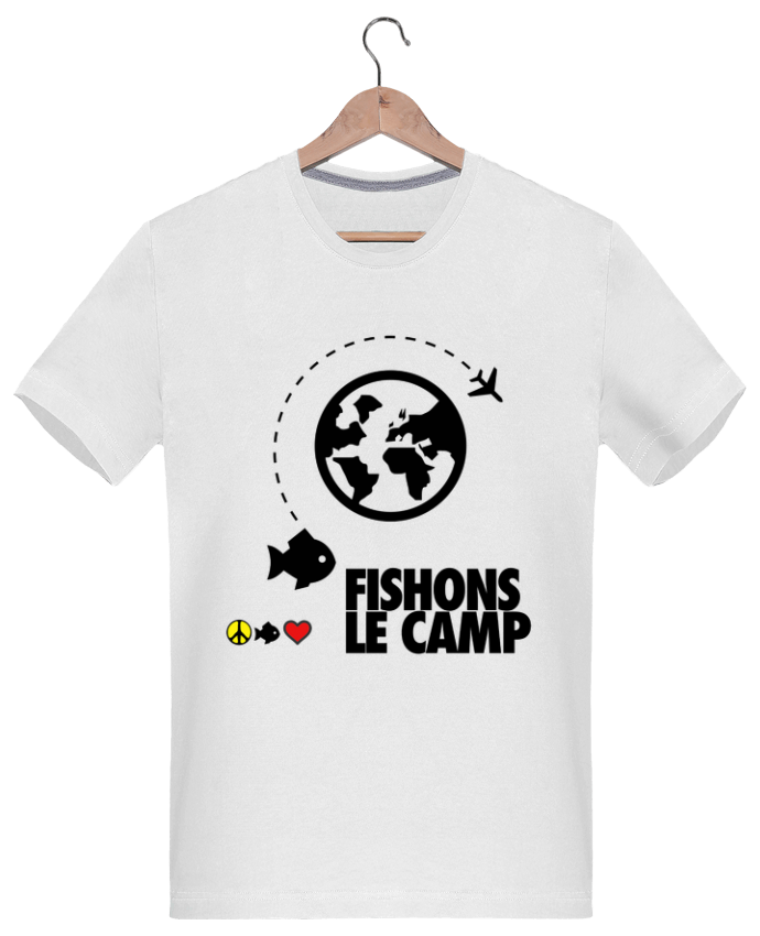 T-shirt  Homme 180g Fishons le Camp par Paix-che Fish and Love