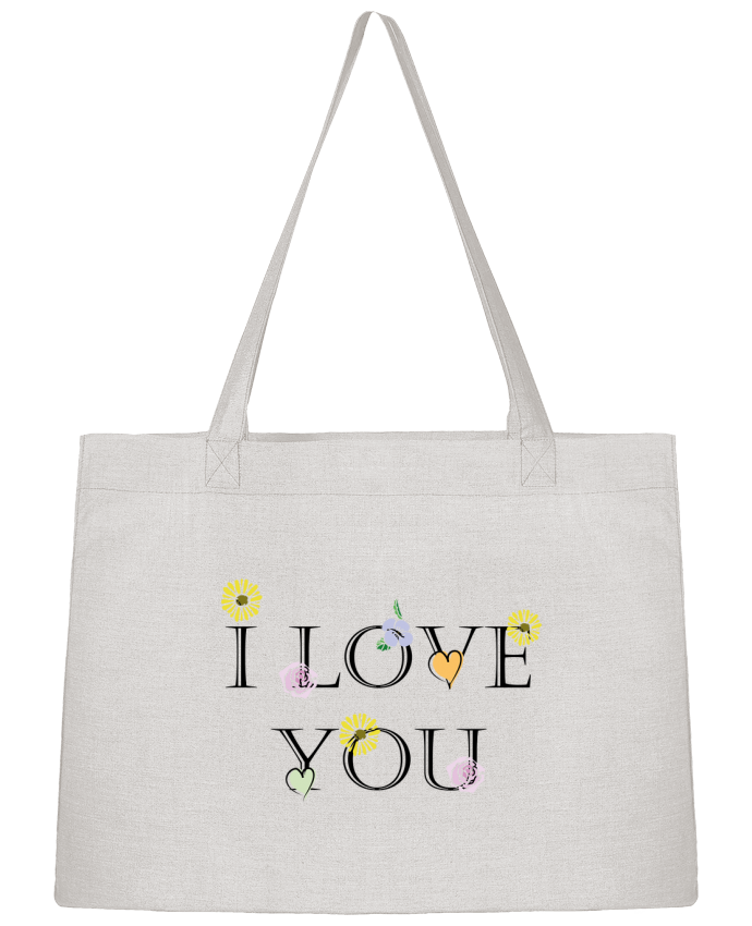 Sac Cabas Shopping Stanley Stella I love You Floral par CBM-Boutique