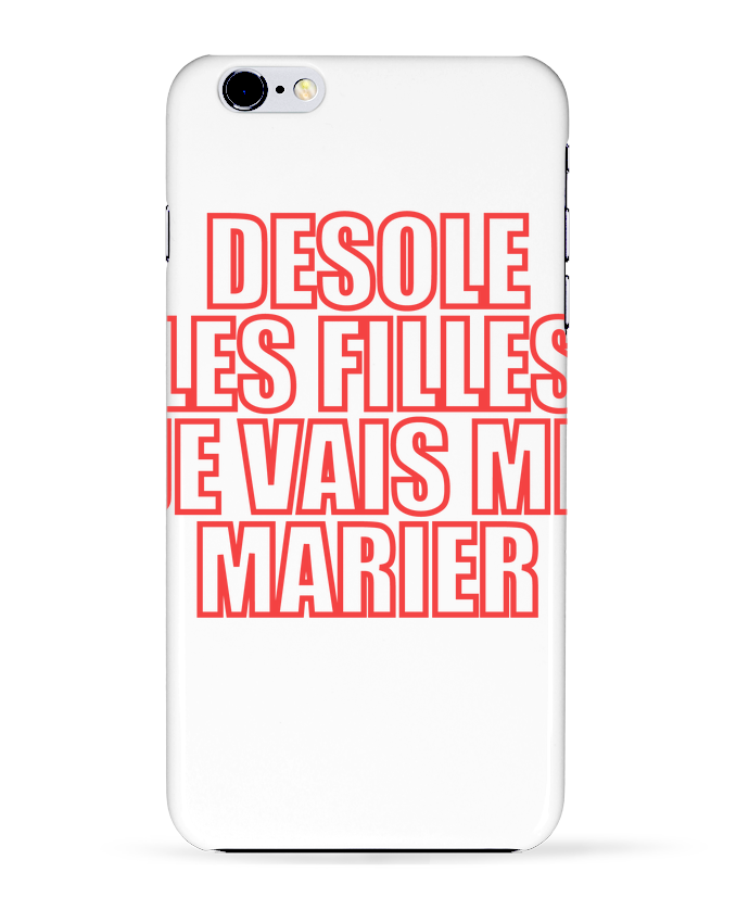 coque iphone 6 mariage