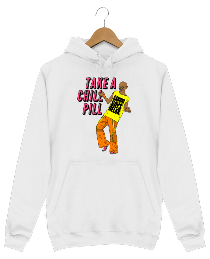 Sweat Shirt à Capuche Homme Chill Pill par Nick cocozza