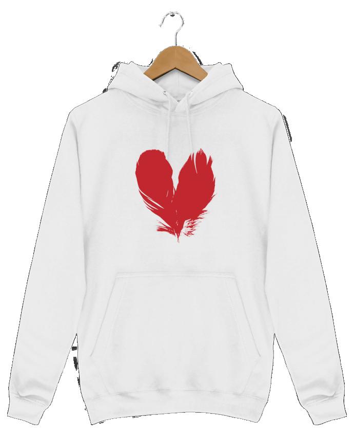 Sweat Shirt à Capuche Homme coeur de plumes par Studiolupi