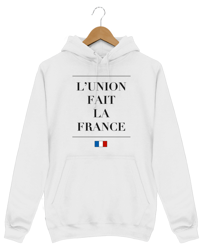Sweat Shirt à Capuche Homme L'union fait la france par Ruuud