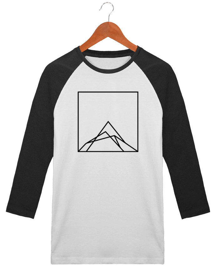 T-Shirt Stanley Stella baseball col rond unisex Montain by Ruuud par Ruuud