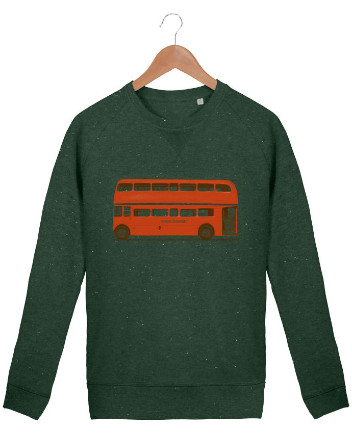 Sweat Col Rond Homme Stanley Strolls Red London Bus par Florent Bodart