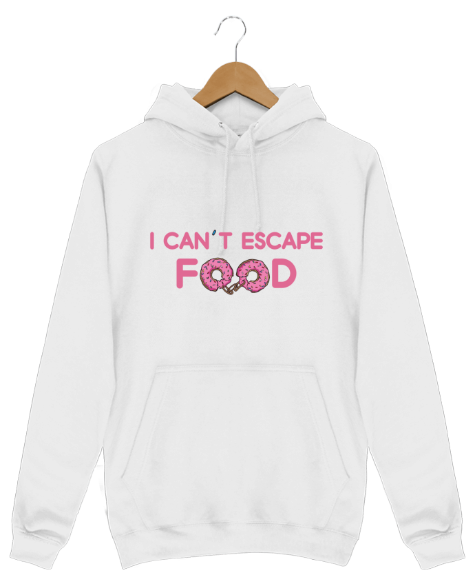 Sweat Shirt à Capuche Homme I can't escape food par tunetoo