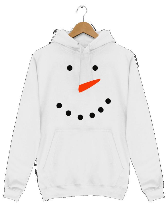 Sweat Shirt à Capuche Homme Bonhomme de neige par tunetoo