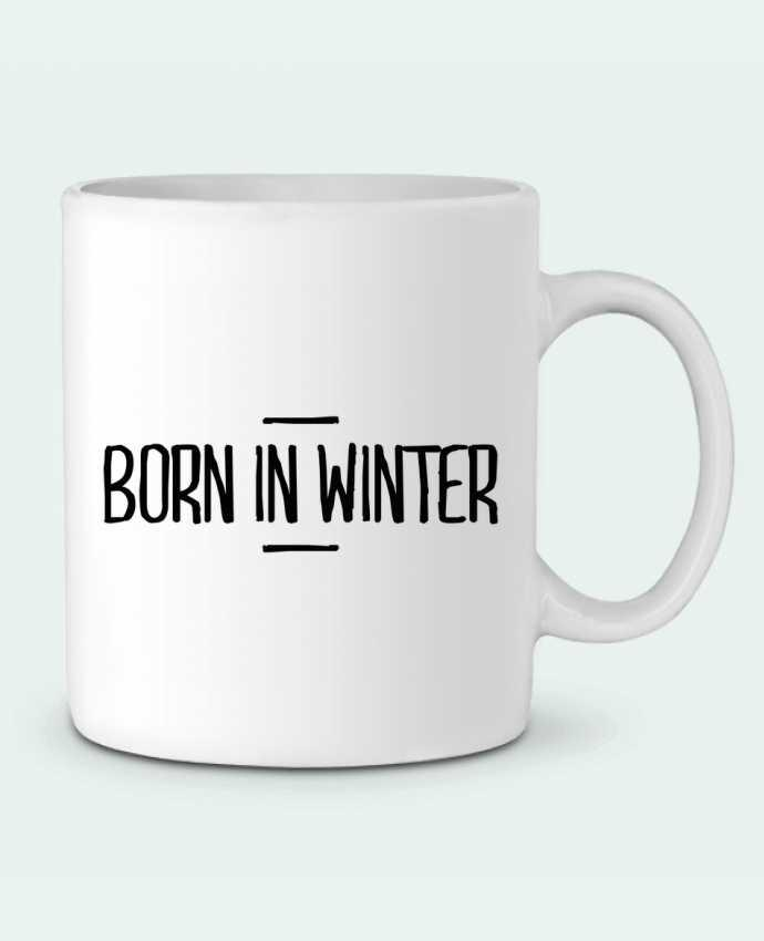 Mug en Céramique Born in winter par tunetoo