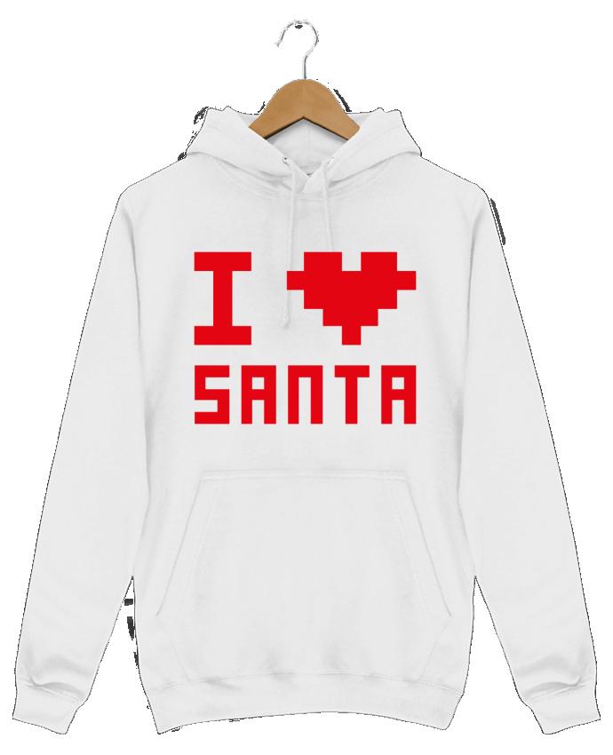 Sweat Shirt à Capuche Homme I LOVE SANTA par tunetoo
