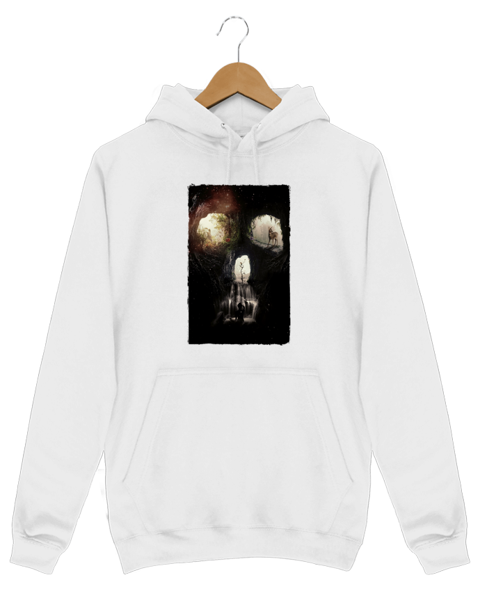 Sweat Shirt à Capuche Homme Cave skull par ali_gulec