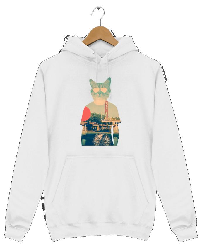 Sweat Shirt à Capuche Homme Cool cat par ali_gulec