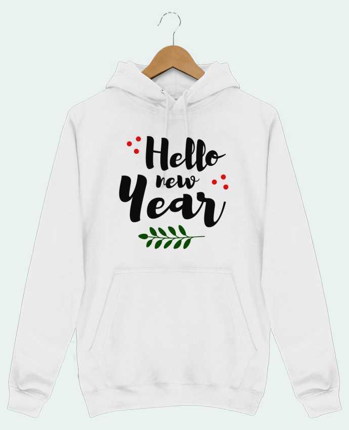 Sweat Shirt à Capuche Homme Hello New Year par tunetoo
