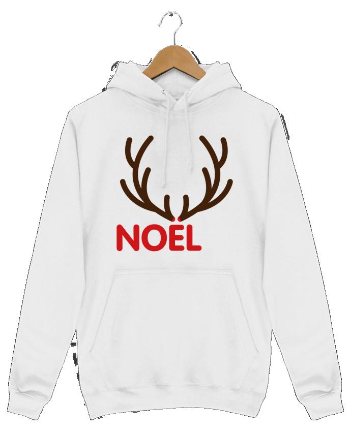 Sweat Shirt à Capuche Homme Noël avec bois de renne par tunetoo