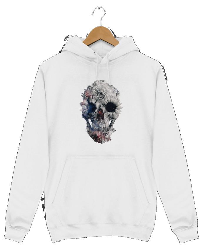Sweat Shirt à Capuche Homme Floral skull 2 par ali_gulec