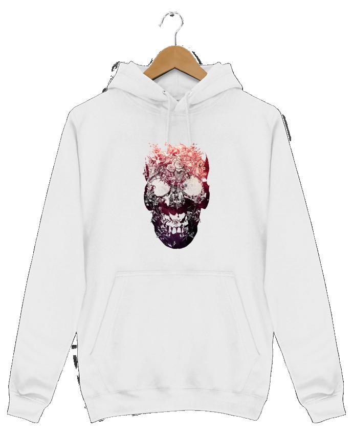 Sweat Shirt à Capuche Homme Floral skull par ali_gulec