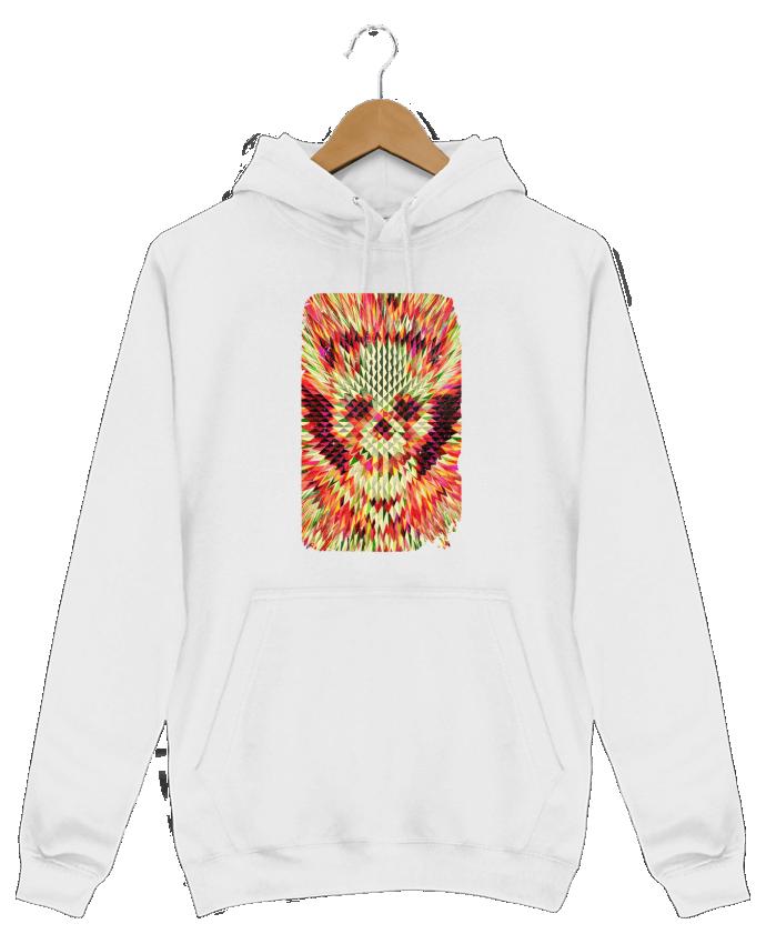 Sweat Shirt à Capuche Homme Geo skull par ali_gulec