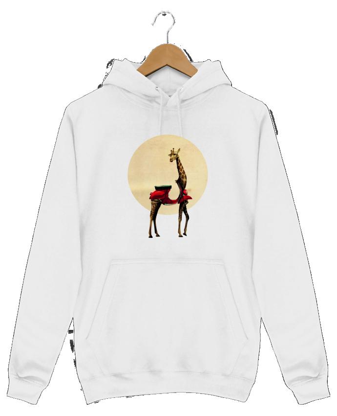 Sweat Shirt à Capuche Homme Giraffe par ali_gulec