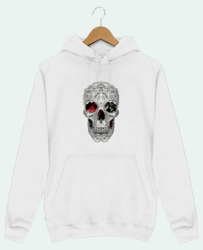 Sweat Shirt à Capuche Homme Lace skull 2 light par ali_gulec