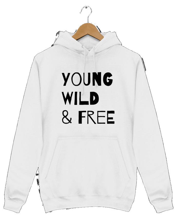 Sweat Shirt à Capuche Homme YOUNG, WILD, FREE par tunetoo
