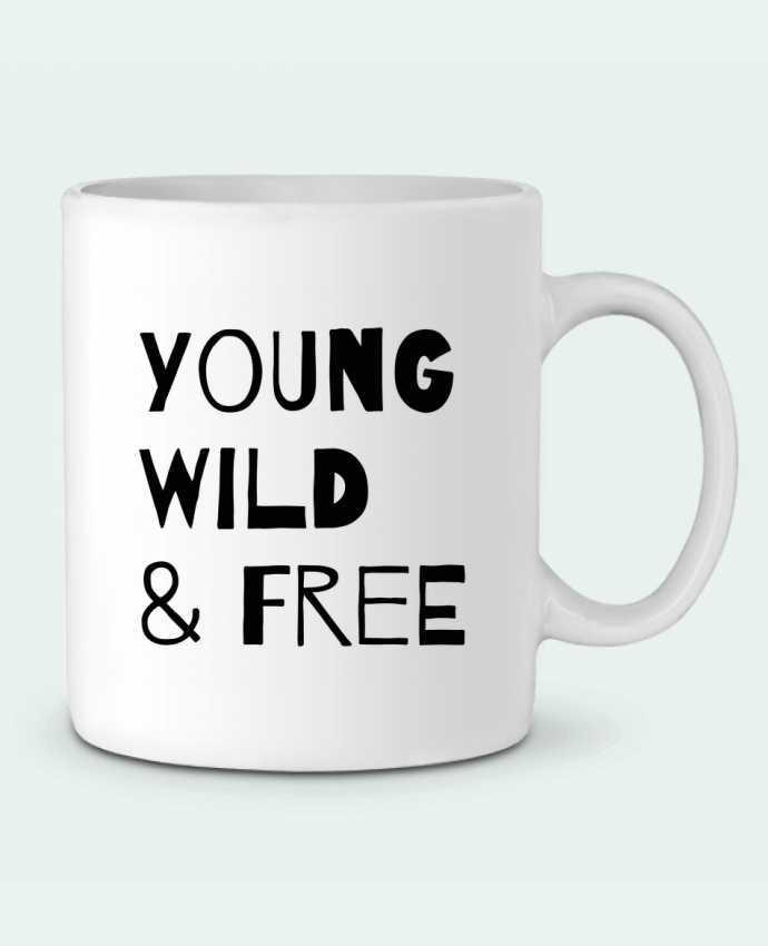 Mug en Céramique YOUNG, WILD, FREE par tunetoo