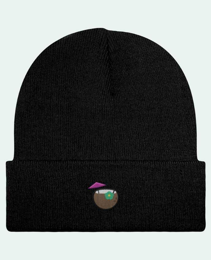Bonnet Beanie à Revers Cocktail coco par tunetoo