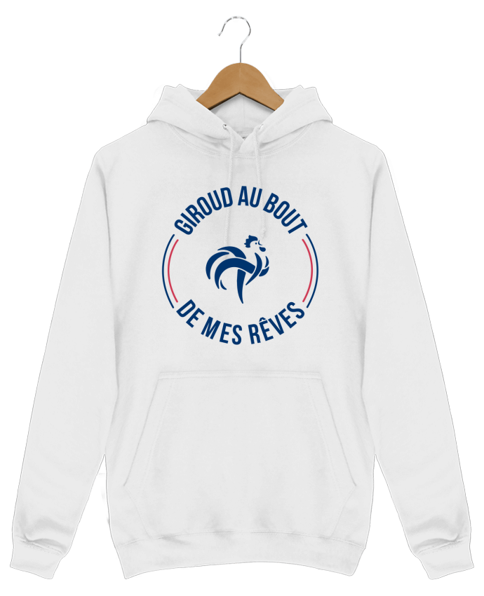 Sweat Shirt à Capuche Homme Giroud au bout de mes rêves par tunetoo