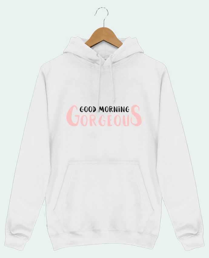 Sweat Shirt à Capuche Homme Good morning gorgeous par tunetoo