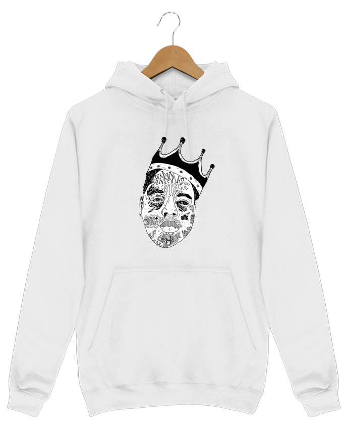 Sweat Shirt à Capuche Homme Biggie par Nick cocozza