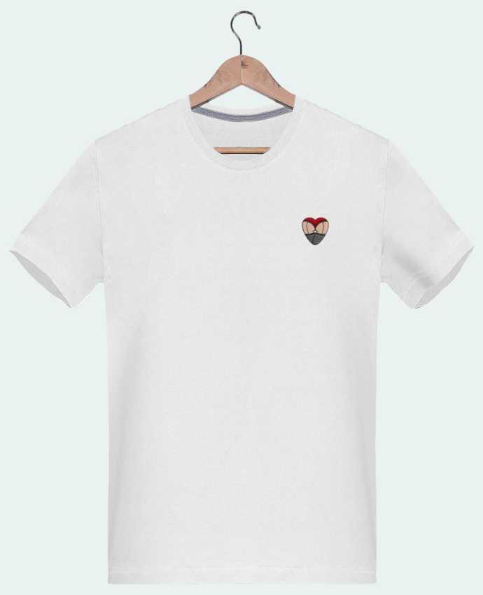 T-shirt Homme Brodé Doggy Style Coeur par tunetoo