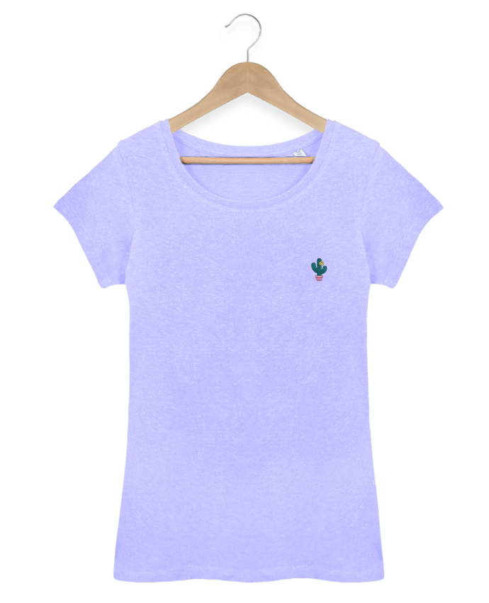 T-shirt  Femme Brodé Cactus par tunetoo