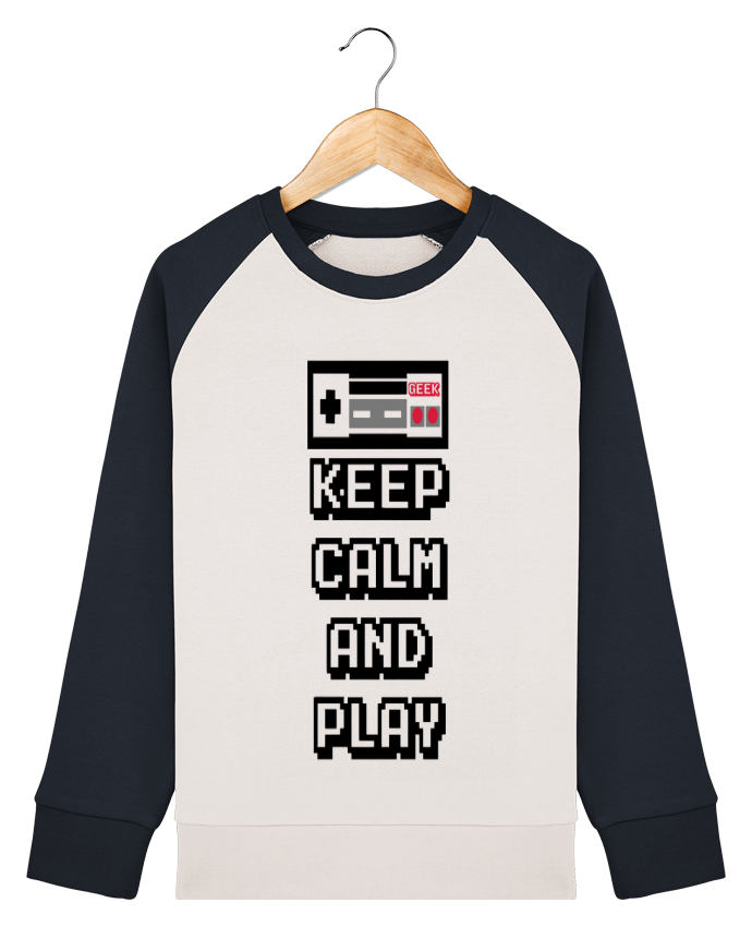 Sweat Shirt Col Rond Enfant Stanley Mini Contrast KEEP CALM AND PLAY par SG LXXXIII