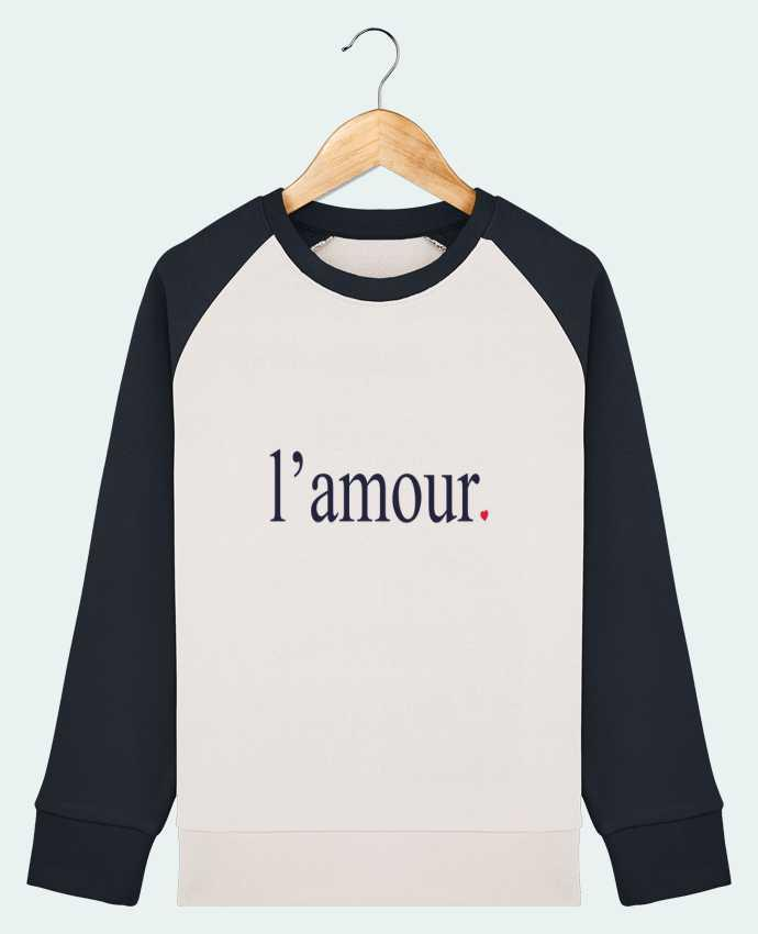 Sweat Shirt Col Rond Enfant Stanley Mini Contrast l\'amour by Ruuud par Ruuud
