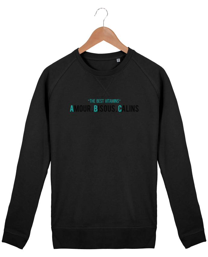 Sweat Col Rond Homme Stanley Strolls - THE BEST VITAMINS - Amour Bisous Calins par tunetoo
