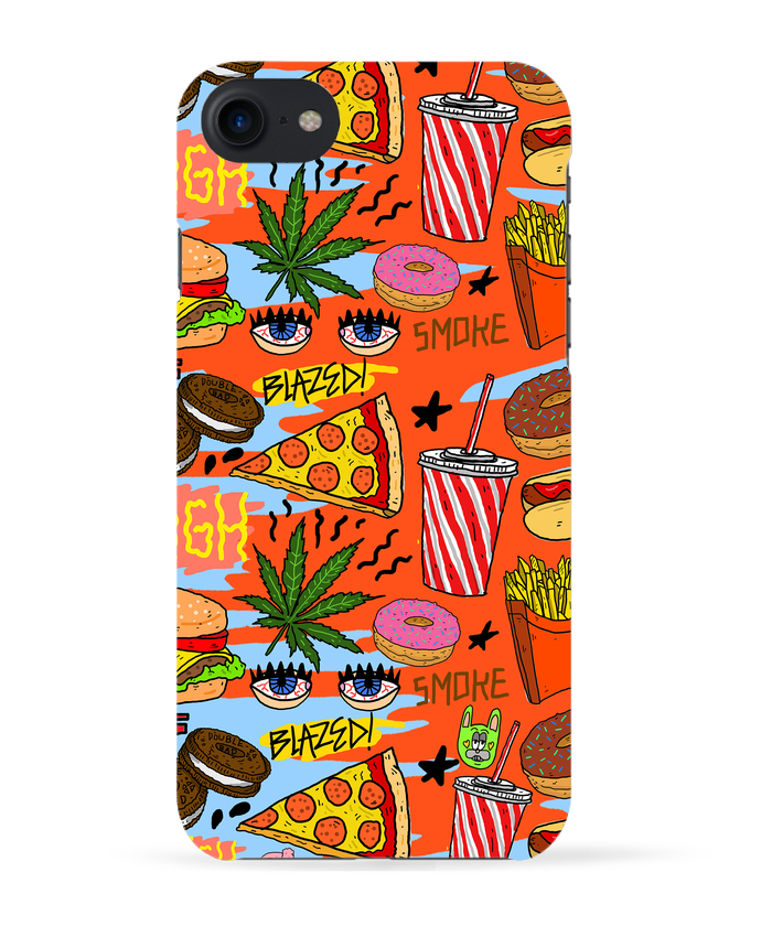 Coque 3D Iphone 7 Junk food pattern de Nick cocozza