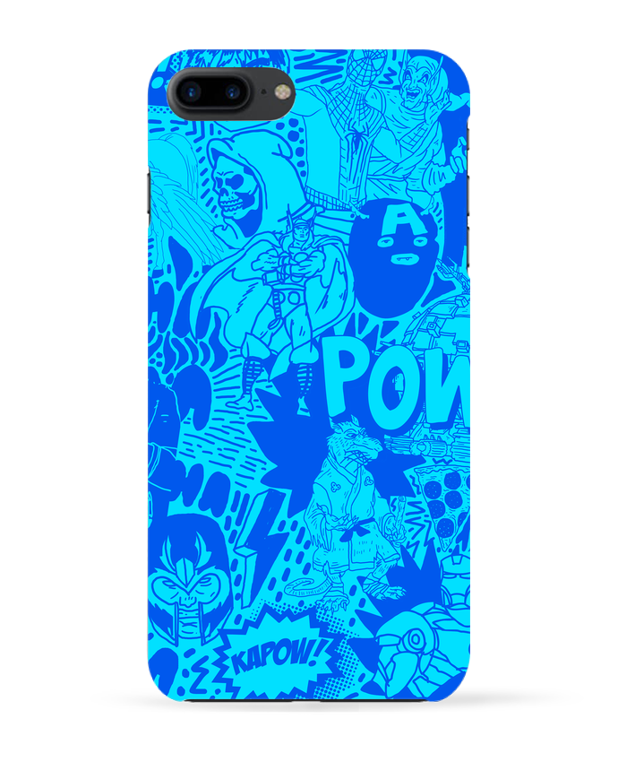 Coque 3D Iphone 7+ Comics style Pattern blue par Nick cocozza