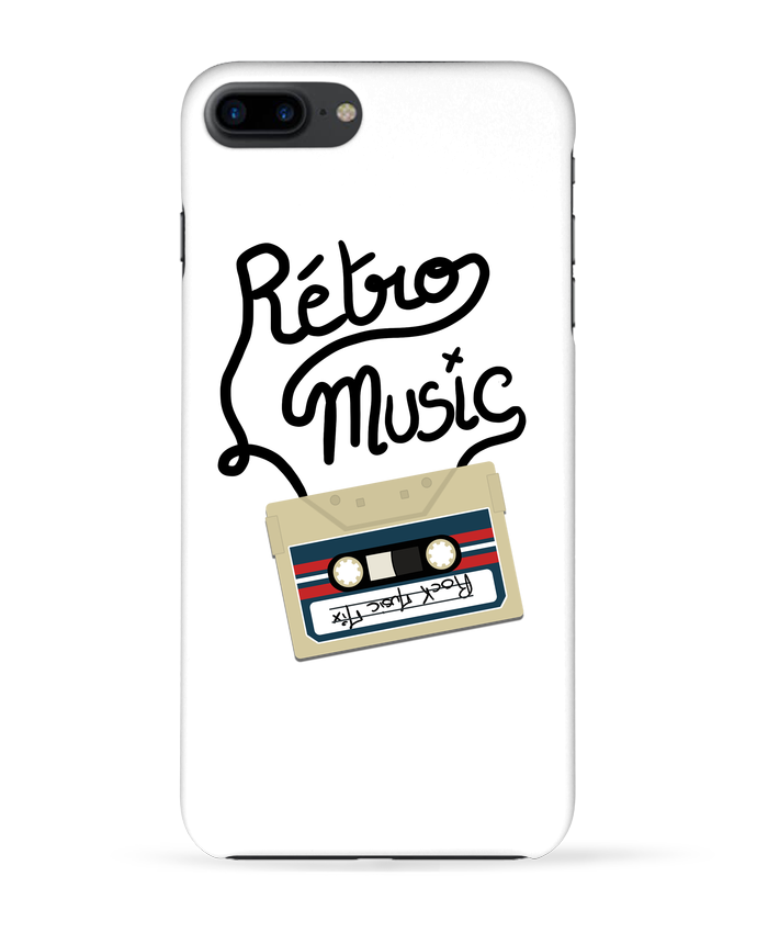 Coque 3D Iphone 7+ Rétro Music par Ju Lie