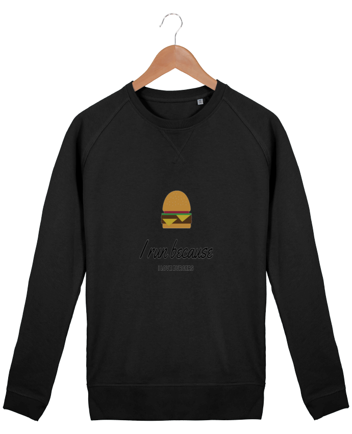 Sweat Col Rond Homme Stanley Strolls I run because I love burgers par followmeggy