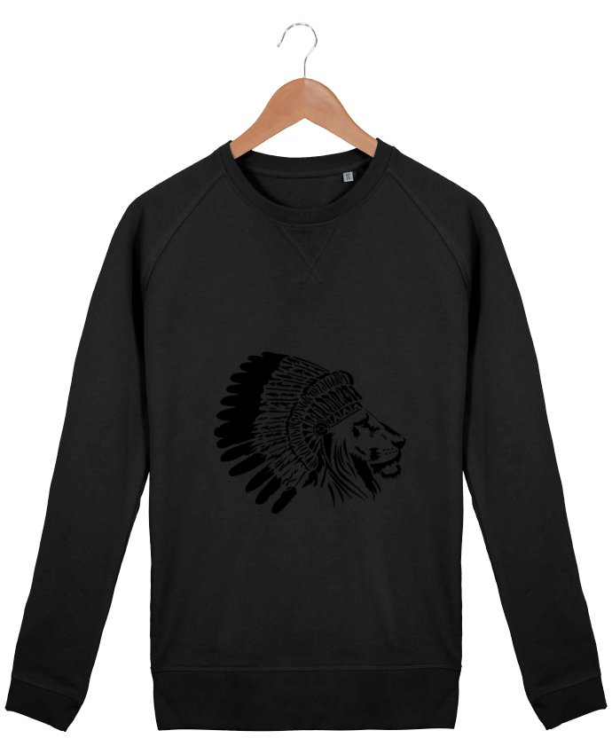 Sweat Col Rond Homme Stanley Strolls indian Lion King par Ikare