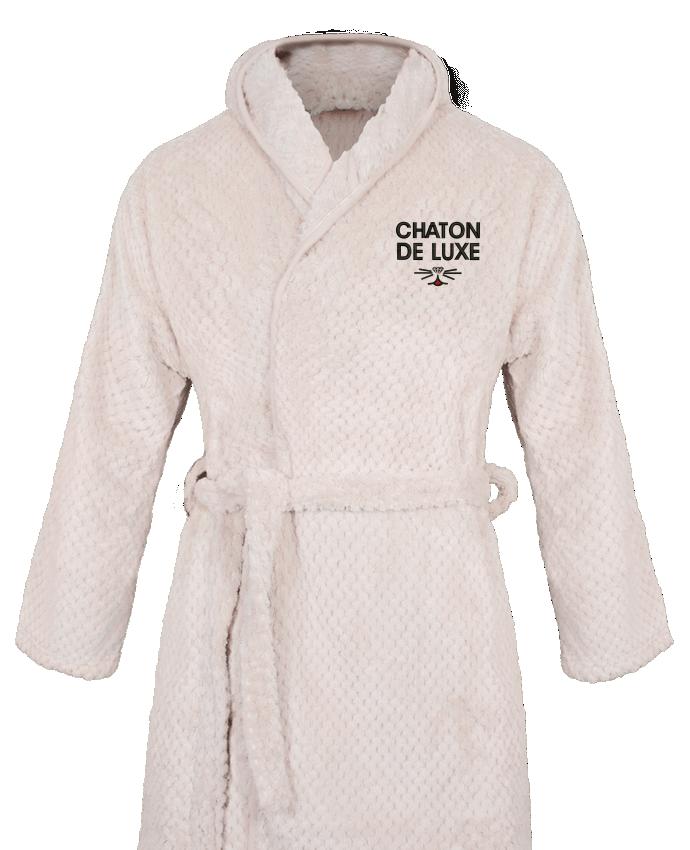 Peignoir Femme Soft Coral Fleece Chaton de luxe par tunetoo